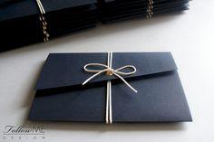 Morskie zaproszenia ślubne / Grataowe dekoracje ślubne od FollowMe DESIGN / Nautical Wedding Invitations / Navy blue Wedding Decorations & Details by FollowMe DESIGN