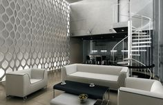 Panele ażurowe Decorativos Decorative Lines, Decorative Wall Panels, Interior Walls, Home Interior Design, Futuristic Interior, Wall Cladding, 3d Wall, Stores, Decoration