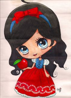 snow white chibi by toxic-pink-ink.deviantart.com
