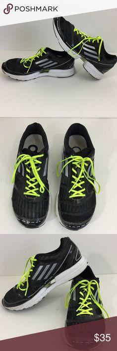 pretty nice 45be6 79e5e Adidas Adizero Feather Sprint Web Running Shoes -Adidas -Adizero Feather  -Size 7 -Sprint web and base -BlackWhiteNeon Green Lace -Very Light  running ...