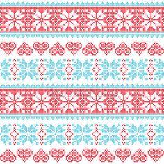 Скачать - Зима, рождество бесшовные неровной узор с снежинки и сердца — стоковая иллюстрация #50160817
