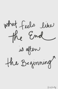 the end and the beginning.