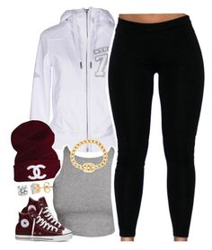 """Untitled #1487"" by lulu-foreva ❤ liked on Polyvore featuring True Religion, CC, Converse and Chanel"