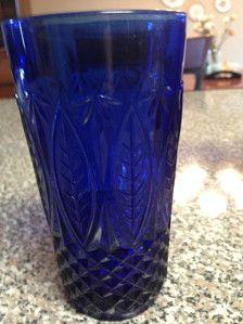 Vintage COBALT BLUE glasses Avon Sapphire Arcoroc France Blue Glassware
