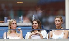 Ivanka later bounced around seats so she could enjoy the game with Kloss…