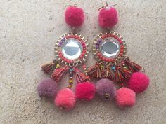 Ibiza Pom Pom earrings