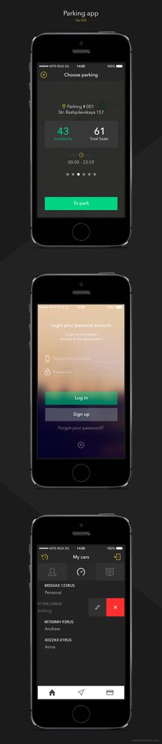 Parking App UI Design | Mobile User Interface Design