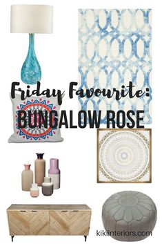 Boho inspired home decor ideas - love these finds from Bungalow Rose. Bohemian, Global inspo. Home decor blog