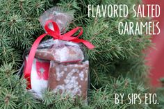 how to make flavored salted caramels