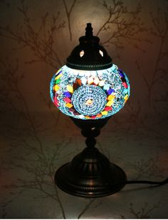 Table Lamp - Blue Twirl