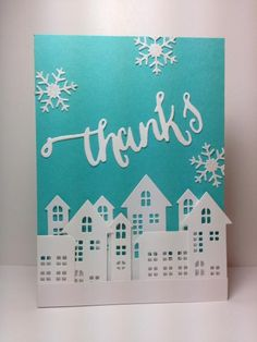 Village dies: Simon Says Stamp, #SSSFAVE, Winter, by beesmom - Cards and Paper Crafts at Splitcoaststampers
