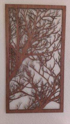 BRANCHES II Laser cut wood art by Shadowfoxdesign on Etsy