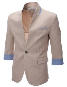FLATSEVEN Herren Slim Fit 3/4 Sleeve Designer Blazer jacket (BJ307) Beige, Boys M FLATSEVEN http://www.amazon.co.uk/dp/B00DK98HEY/ref=cm_sw_r_pi_dp_uO5Zub1E73S52