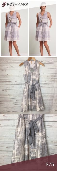 """Anthropologie Maeve Magnifying Glass Dress New with tags Anthropologie Maeve Magnifying Dress.  Measurements:  Bust- 17"""" laying flat  Waist- 15"""" laying flat  Length- 37.5"""" Anthropologie Dresses"""