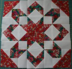 Thimble Blossoms Fireworks pattern, block done in Liberty of London quilting fabrics