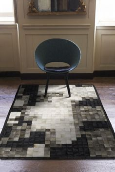 Mr Grey - The Cowhide Patchwork Rug