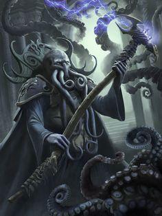 New fantasy art monsters horror ideas New Fantasy, Fantasy Races, Fantasy Rpg, Dark Fantasy, The Elder Scrolls, Fantasy Monster, Monster Art, Mind Flayer, Eldritch Horror