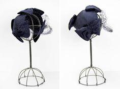 vintage 1950s hat / calot / Navy Blue by BlueRoseVintage on Etsy, $48.00