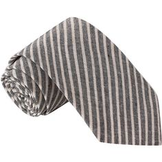Knot Society Knot Society Men's Grey And White Striped Chambray Tie... ($26) ❤ liked on Polyvore featuring men's fashion, men's accessories, men's neckwear, ties, black, mens white tie, mens striped ties and mens ties