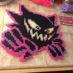Haunter - Pokemon perler beads by tyler_plurden