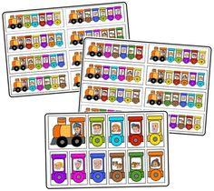 D'après une idée vue sur le net, j'ai réalisé le jeu du petit train pour mes loulous.C'est un petit jeu de classement.Ils ont adoré...Pour imprimer les différentes planches, cliquer ci-dessous ...