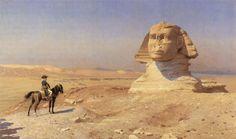 Bonaparte before the Sphinx. 1867-1868 by Jean-Leon Gerome (1824-1904).