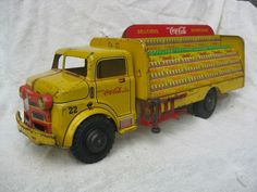 Sell one like this   VINTAGE ORIGINAL 1940's MARX LUMAR COCA-COLA DELIVERY TRUCK PRESSED STEEL