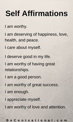 Affirmations for Self-Esteem and Self-Love