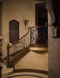 Bordeaux Panels paired with Tuscan square hammered balusters in Oil Rubbed Bronze