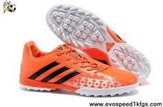 Latest Listing Cheap Orange Black White 2013 adidas Predator TF Football Shoes Shop