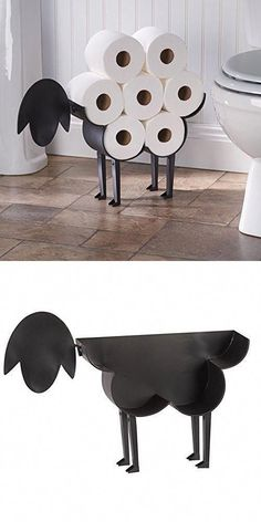 Toilet paper holder for sheep - freestanding storage for bathroom towels . Sheep toilet paper holder - freestanding storage container for toilet paper , Sheep Toilet Paper Holder - Free-Standing Bathroom Tis. Craft Paper Storage, Toilet Paper Storage, Toliet Paper Holder, Bathroom Toilet Paper Holders, Cheap Home Decor, Diy Home Decor, Diy Casa, Diy Bathroom Decor, Bathroom Storage