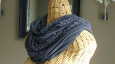 Braided Knit Infinity Scarf  Charcoal by theiheartboutique on Etsy, $20.00