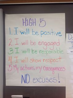 Rather than just tell students what to do, this list can help teachers to make I statements: I need you to be positive and engaged right now!