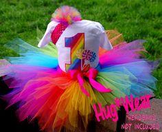 Custom Rainbow Lollipop Candyland Birthday Shirt Tutu by HugWear