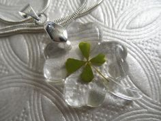 4 Leaf Clover Resin Clover Shaped Pendant by giftforallseasons
