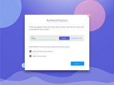 Form example: Code verification screen by Madalina Taina