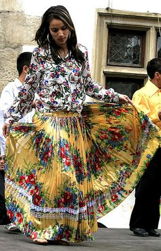 Another Roma (Gypsy) girl, another pleated floral dress by TudorSeulean, via Flickr