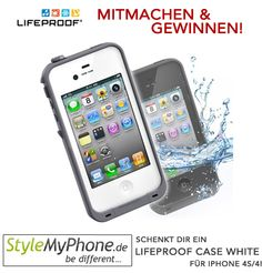 Win a LifeProof Case in White for your iPhone 4S/4 - Mitmachen und ein LifeProof Case in Weiß für iPhone 4S/4 gewinnen! Iphone 4s, Yoga, Electronics, Health, Sports, Slipcovers, Games, Hs Sports, Health Care