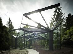 Greenhouse in Grüningen Botanical Garden, by Buehrer Wuest Architekten