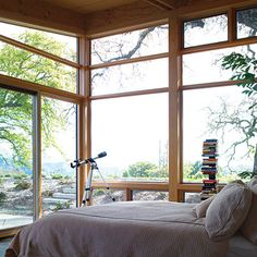 Naturally-lit rooms