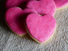 Iced Sugar Cookie Hearts  1 Dozen Cookies by KimsCountryCorner