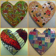 Hearts for Aunt Judy Mosaic Rocks, Mosaic Art, Valentine Heart, Valentines, Garden Mosaics, Patchwork Heart, Mosaic Supplies, Arts And Crafts, Diy Crafts