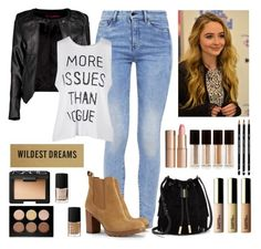 """""""Get The Look: Maya Hart (Sabrina Carpenter)"""" by themuslimah ❤ liked on Polyvore featuring Vince Camuto, G-Star, Boohoo, Tory Burch, Anastasia Beverly Hills, NARS Cosmetics, Kevyn Aucoin and Charlotte Tilbury"""
