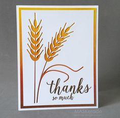 MASKerade blog: Thanks So Much Card. #EllenHutsonLLC #EssentialsbyEllen #MixItUpChallenge #FancyThanks @iostamps