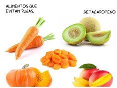 Alimentos que evitam rugas betacaroteno.