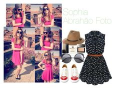 """""""Look Sophia Abrahão Foto"""" by amygrandepotter ❤ liked on Polyvore featuring Benetton, Charlotte Olympia, Wood Wood, Rusty, Lancôme, Salvatore Ferragamo, Burberry and sophiaabrahao"""