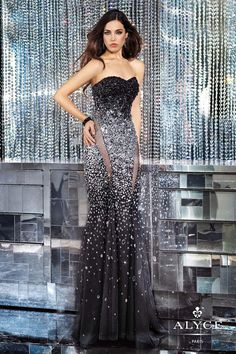 Alyce Prom Dress 6157 | Terry Costa Dallas Line the sheer parts for a New Years Eve wedding. That's a WOW.
