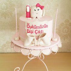 Diş Bugdayi Pastası / Butik Pasta Dental Cake, First Tooth, Cake Cookies, Teeth, Cupcake, Concept, Cakes, Country, Party