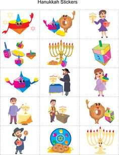 Hanukkah Printable Stickers