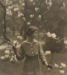 American photographer Arnold Genthe shot this portrait of playwright and poet Edna St. Vincent Millay around 1917. Sam Wagstaff Collection